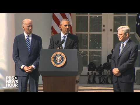 President Obama nominates Merrick Garland for Supreme Court