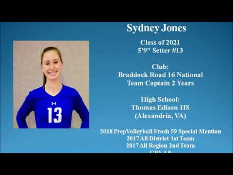 2021 Setter - Sydney Jones - Volleyball Recruiting Video