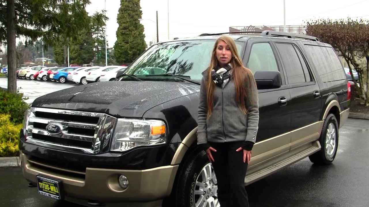 Virtual walk around tour of a 2012 ford expedition el xlt at titus will ford in tacoma wa x7529
