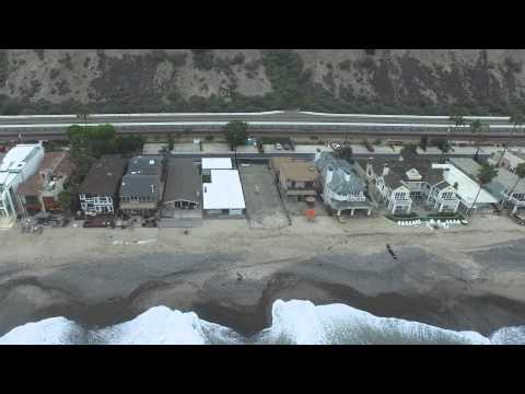 Beach Road, Dana Point, Capistrano Beach by Air - DJI Phantom 3 Pro 4K 30fps