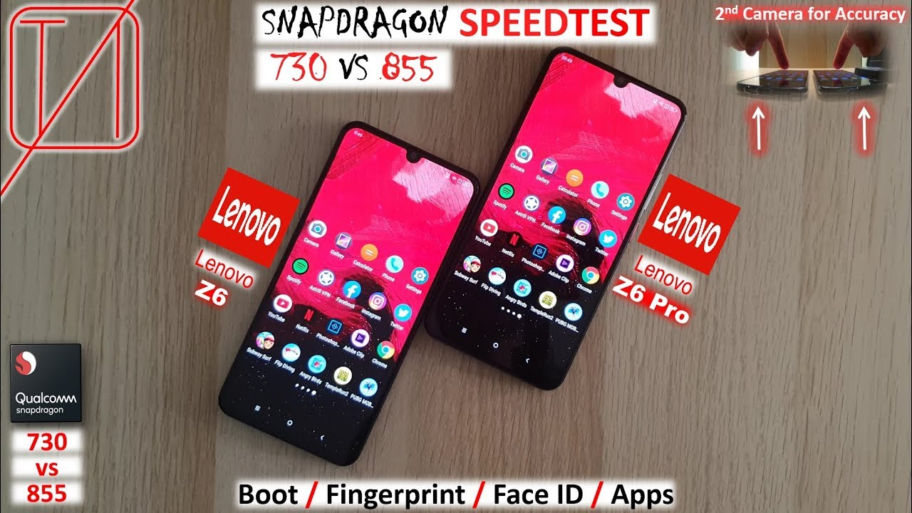Comparison Lenovo Z6 vs Lenovo Z6 Pro Speed Test