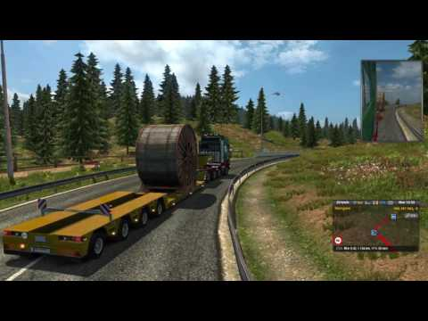 Euro Truck Simulator 2 Industrial Cable Rolls Kosice (SK) to Zurich (CH) Part 1