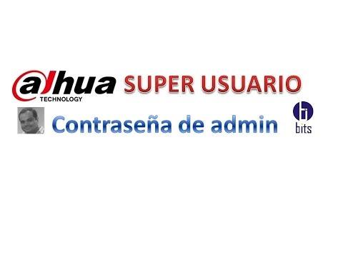 Dahua - Contraseña de Admin