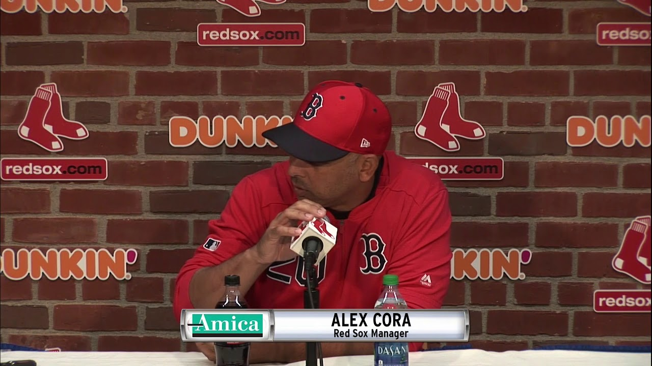 Amica Press Conference: Alex Cora On Plan For Chris Sale, David Price