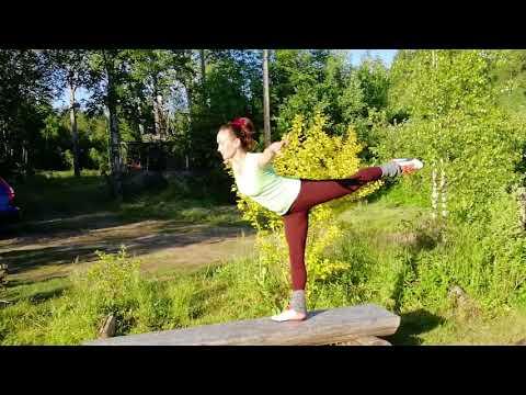"""Упражнение """"Ласточка"""" на баланс и укрепление мышц спины и ног"""