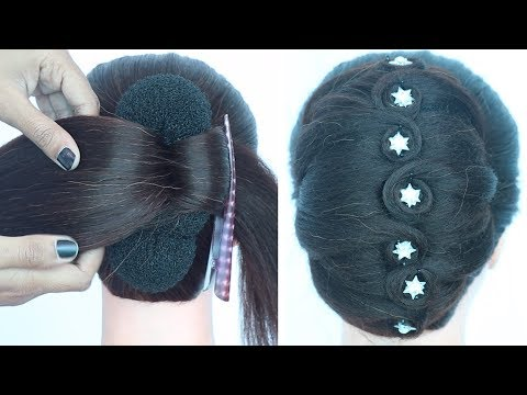 trending french bun hairstyle || party hairstyle || ladies hair style || new hairstyle || hairstyle thumbnail