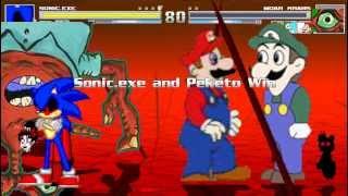 MUGEN: Sonic.exe, Peketo, Weegee & Tails Doll vs Youtube Poop