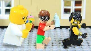 Lego Superhero vs NINJAGO Babysitting