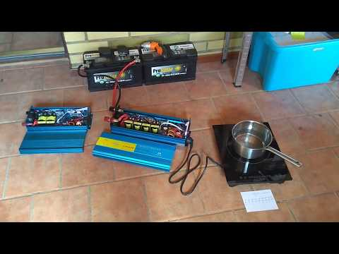 Test - Pure sine wave inverter 2500w (2000w) vs induction plate  - chinese