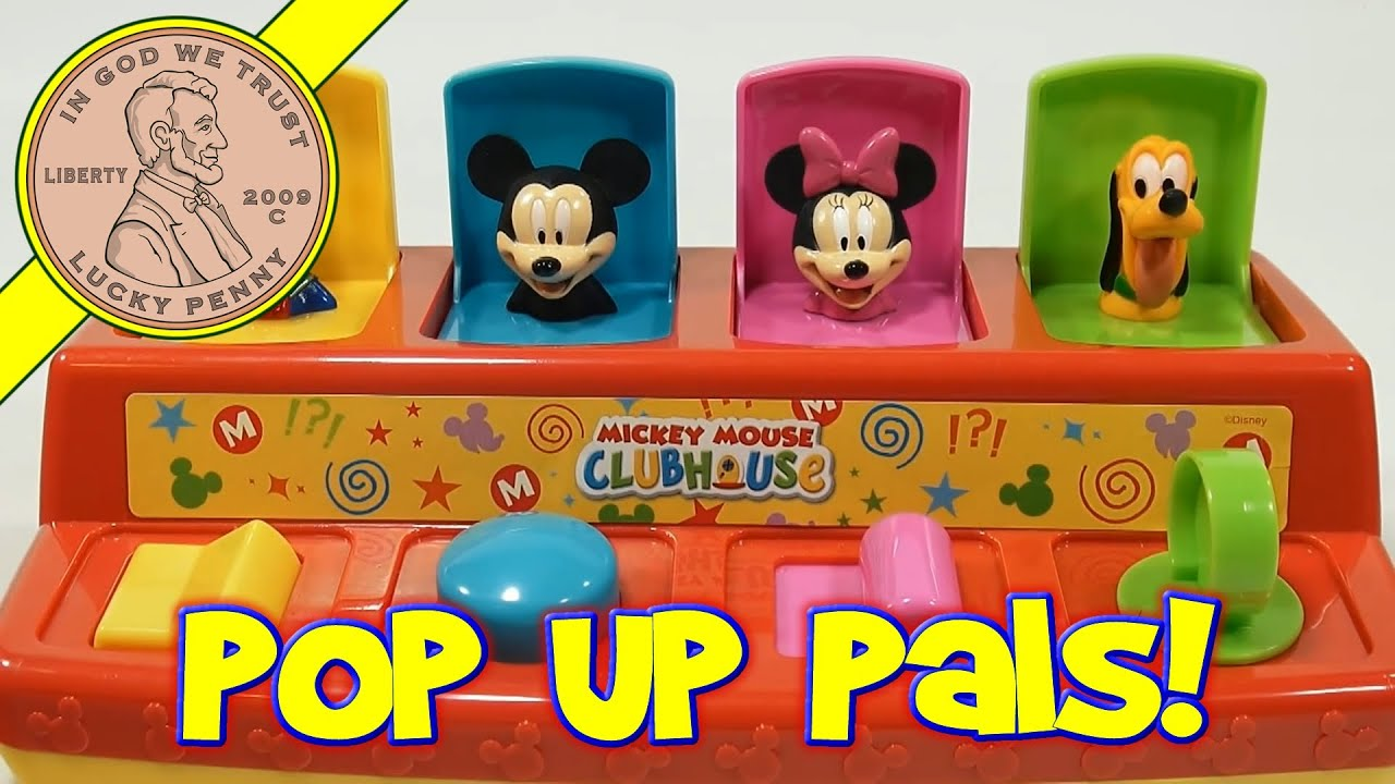Disney Mickey Mouse Clubhouse Pop Up Poppin Pal Toy Youtube