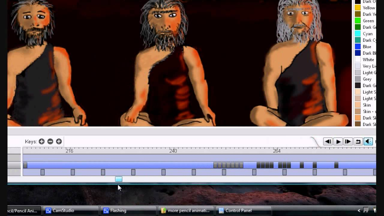 pencil animation moving key frames youtube - Moving Picture Frames
