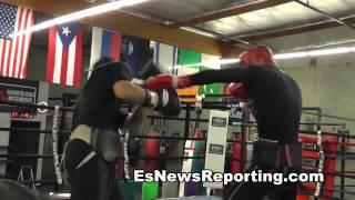 Ukranian Boxing Star Alex Gvozdyk Sparring Ricky - EsNews Boxing