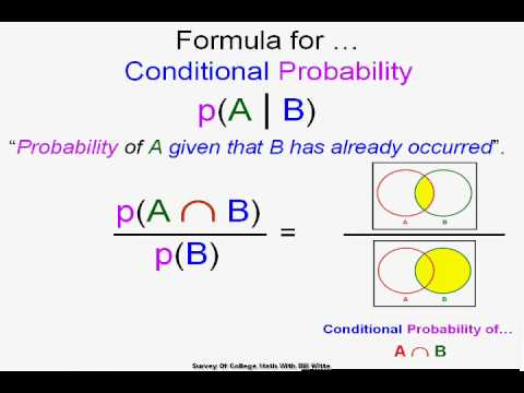 conditional probability dependent vs independent events youtube. Black Bedroom Furniture Sets. Home Design Ideas
