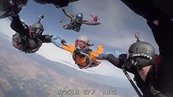 Record setting HALO team skydive from 33,000 feet