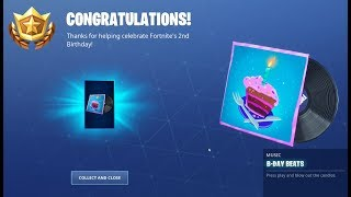 Unlocked the Free B-Day beats music (fr) Le 2ème b-day de Fortnite