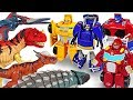Jurassic world Dinosaurs appeared! Transformers Rescue Bots ready to roll out! - DuDuPopTOY