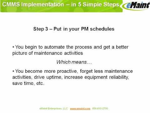 CMMS Software Implementation
