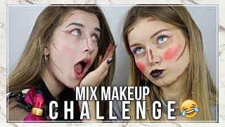 MIXED MAKEUP CHALLENGE | Basia Kaszuba & Adrienne
