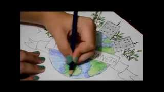 Speed Drawing Earth Day