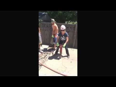 Girl Jack Hammer Slow Motion  Long Beach NY