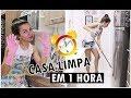 LIMPANDO E ORGANIZANDO A CASA EM 1 HORA #desafio | Depois do Sim blog