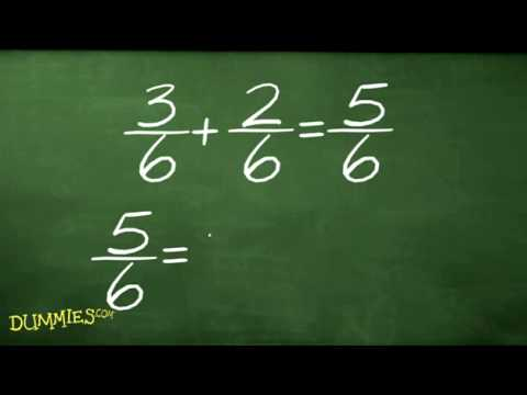 How to add and subtract fractions in algebra for dummies youtube ccuart Image collections