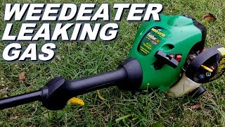 Why is my weedeater leaking gas?