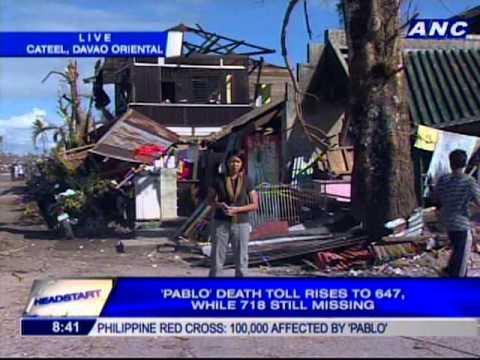 Chiara Zambrano reports live from Cateel, Davao Oriental