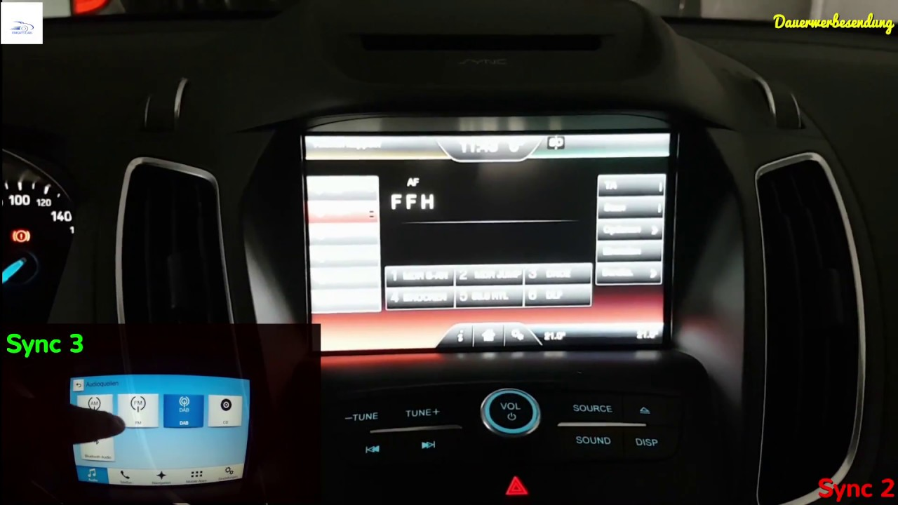 ford vergleich ford sync 2 mit ford sync 3 youtube. Black Bedroom Furniture Sets. Home Design Ideas