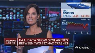 Satellite data showed both 737 Max flights followed similar patterns: FAA