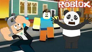 The Bad Neighbor Is Chasing Us With Panda!! - Roblox Hello Neighbor