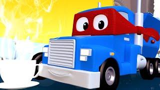 Согревающая КАКАО МАШИНА - Трансформер Карл в Автомобильный Город 🚚 ⍟ детский мультфильм