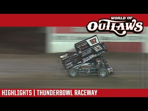 World of Outlaws Craftsman Sprint Cars Thunderbowl Raceway March 9, 2018 | HIGHLIGHTS