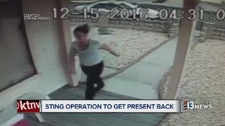 Couple sets up sting operation to get stolen present back