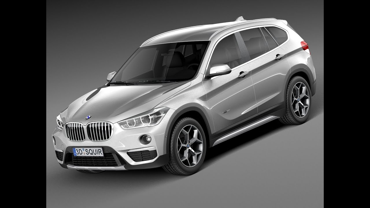 3d model bmw x1 2016 f48 youtube. Black Bedroom Furniture Sets. Home Design Ideas