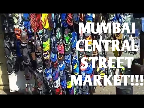 MUMBAI CENTRAL STREET MARKET - BAGS -SANDLES -CLOTHES IN CHEAP RATES!!!