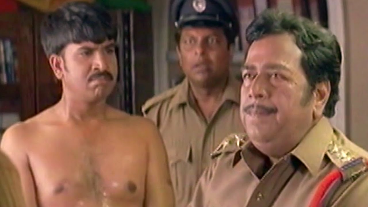 Srinivas Reddy Hilarious Comedy Scene In Police Station - Idiot Movie