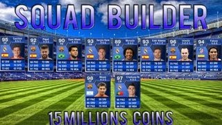 Fifa 13 - Ultimate Team - 15 million Squad Builder