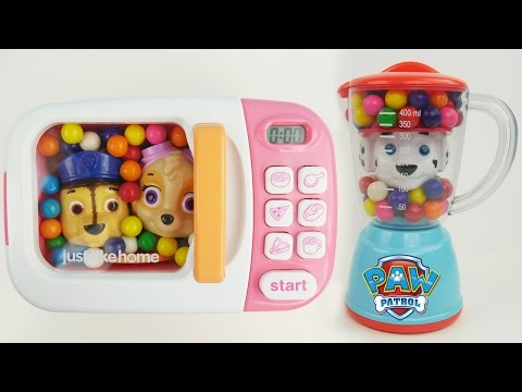 Color Changing Microwave and Blender Candy Paw Patrol Home Kitchen Toy Appliances with Surprise Toys