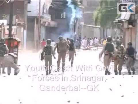 Youth Clash With Govt Forces in Srinagar, Ganderbal