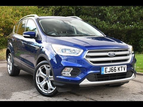 used ford kuga 2 0 tdci titanium 5dr 2wd deep impact blue. Black Bedroom Furniture Sets. Home Design Ideas
