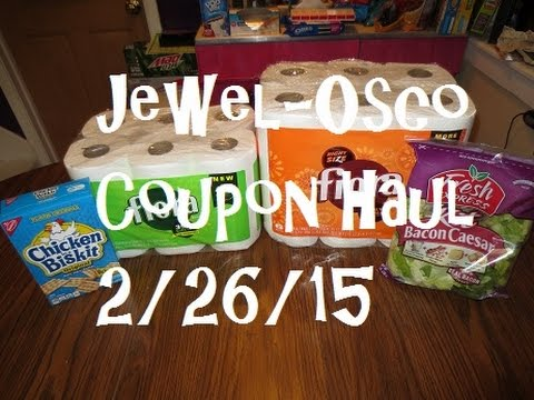 Jewel-Osco Coupon Haul 2/26/15 ~ $3.99 Paper Towels & Bath Tissue