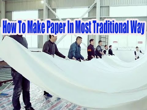 How To Make Paper In Most Traditional Way | More China