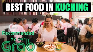 GRAB DRIVER shows us BEST FOOD in KUCHING MALAYSIA (Sarawak Malaysia Vlog)