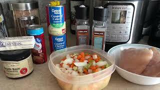 Instant Pot Chicken n Dumplins. Weight Watcher Friendly 3 SmartPoints