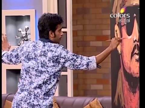 Challenging Star Darshan' fastest Painting!