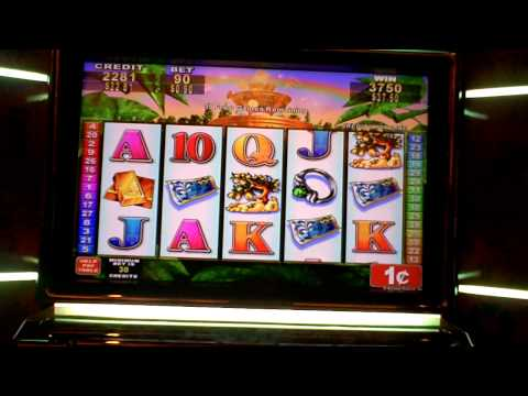 Lucky Fountain 50 spin slot bonus win at Parx.