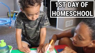 VLOG | 1ST DAY OF HOMESCHOOL | PRESCHOOL