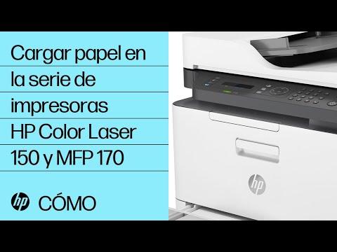 Cargar papel en la serie de impresoras HP Color Laser 150 y MFP 170 | Láser HP | HP