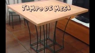 Como fazer um tampo de mesa